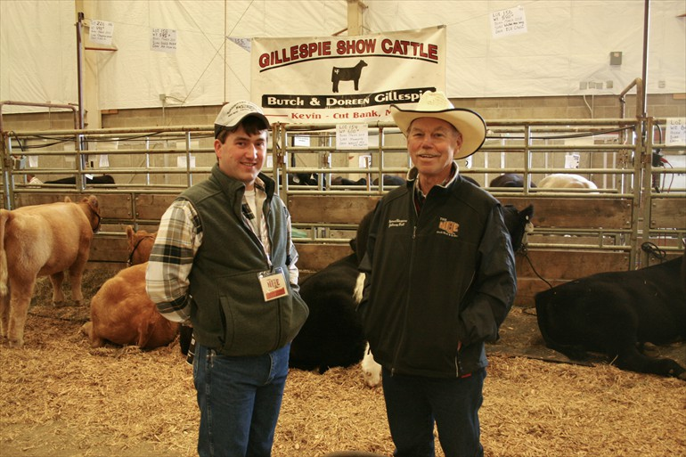 With our string of calves at the NILE Stock Show in Billings MT